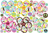 Multicolored Daisy Peace Wall Decals / Stickers / Decor