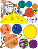Giant Space Solar System Planets Mural Wall Decals / Stickers