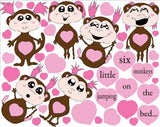 Monkeys Jumping on the Bed Girls Wall Stickers / Decals