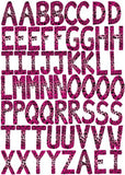 60 ABC Alphabet Wall Decals-Leopard-3.25in. letters-Hot-Pink-Wall-Stickers-Decals
