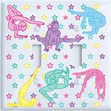 Gymnastic Light Switch Plates and Outlet Covers / Dance Gymnastic Wall Decor