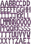 60 ABC Alphabet Wall Decals Purple Zebra Print 3.25in. Letters Wall Stickers Decals A-Z