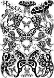 22 Black and White Whimsical Butterfly Wall Stickers / Decals