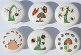 Bugs Drawer Pull Knobs / Insect Bug Ceramic Cabinet Handles / Bug Room Decor