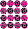 Presto Swirly Hot Pink, Black and White Polka Dot Wall Stickers/Decals