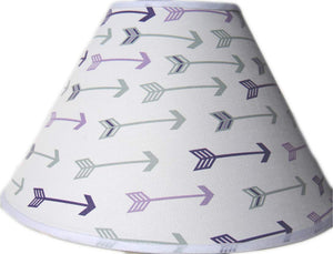 Purple and Grey Arrow Lamp Shade, Woodland Forest Western Themed Children's Nursery Decor