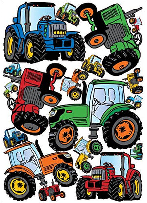 Tractor Wall Decals Stickers Multicolored Tractors Wall Decor