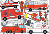 Fire Truck Firefighter Wall Sticker Decals/Fire Truck Wall Decor