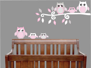Owl Wall Decals/Owl Stickers/Owl Nursery Wall Decor