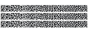 Leopard Print Black and White Border Wall Decals/Stickers