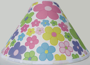 Pastel Daisy Flower Lamp Shade  Pastel Floral Lampshade Girls Nursery Decor