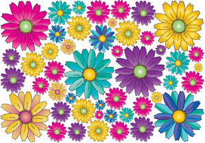 46 Gerber Daisy Flower Wall Decals Stickers/Gerbera Flower Wall Decor