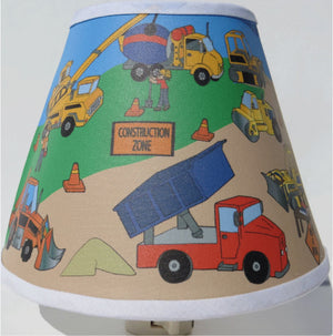 Construction Trucks Night Light / Construction Truck Nursery Decor