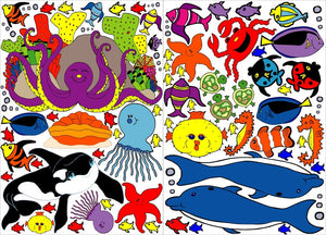 Under the Sea Wall Decals/Under Water Wall Decor/Under Sea Creatures