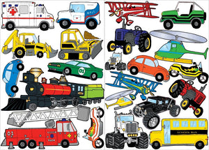 Transportation Wall Decals, Stickers