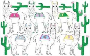 Llama Wall Decals Stickers/Llama Alpaca Wall Decor