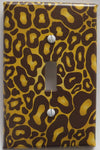Presto Wall Decals Leopard Print Light Switch Plate Cover