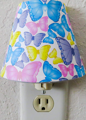Butterfly Night Lights with Pink, Blue, Purple and Yellow Butterflies