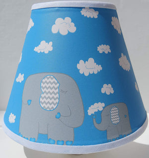 Elephant Night Lights with Clouds / Elephant Nursery Wall Decor