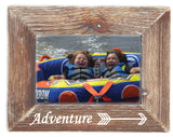 Adventure Farmhouse  Natural Wood Picture Frame  Home Decor