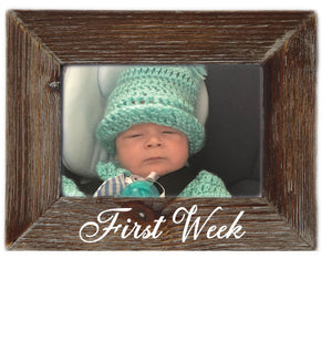 Babies First Week Milestone Natural Wood 6 x 4 Picture Frame Rustic Home Decor
