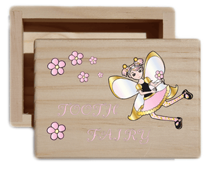 Girl's Tooth Fairy Keepsake Collectible Box