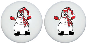 Snowman Drawer Knobs Christmas Holiday Decor Ceramic Cabinet Pulls (Set of Two)