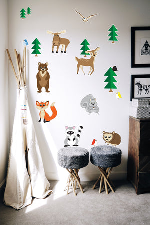 Woodland Forest Animal Wall Decals Stickers