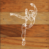 Ballerina Chalk White on a 6 x 6 Rustic Aged Natural Wood Pallet