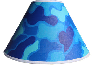 Blue Camoflauge Lamp Shade Army Military Camo Children's  Nursery Decor