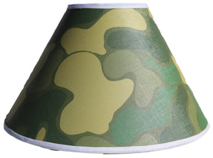 Green Camoflauge Lamp Shade Army Military Camo Children's Girls Nursery Decor