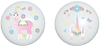 Rainbow Llamacorn with Pastel Flowers and Butterflies Drawer Ceramic Drawer Knobs Pulls Childrens Nursey Decor