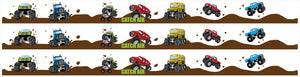 Monster Truck Wall Border Wall Decal 4.5 inch Wide x 13 Feet Long