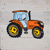 Tractor Art Prints on a White Washed 6 x 6 Rustic Natural Wood Pallet