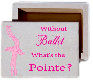 Ballerina White Wash Wood Keepsake Collectible Box