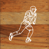Baseball Art Prints on a 6 x 6 Rustic Aged Natural Wood Pallet