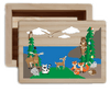 Woodland Forest Animal Natural Wood Keepsake Collectible Box