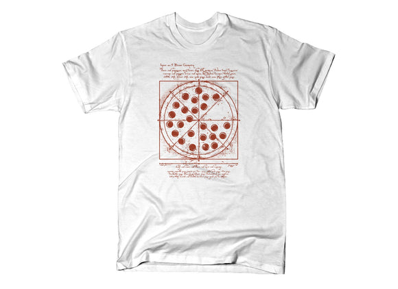 Vitruvian Pizza Tee Shirts