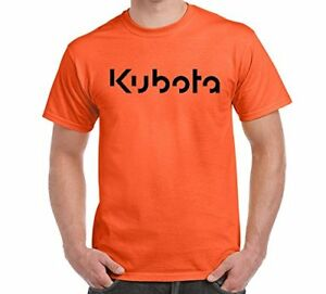 KUBOTA Mens Orange T SHIRT Tee