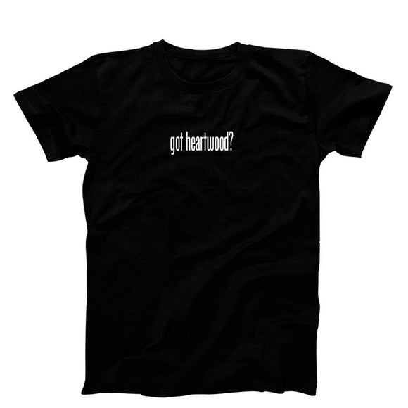 3 OClock Gift Shop Got Heartwood T Shirt Black