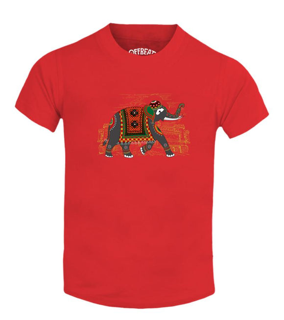 050 greeting Elephant Kids T Shirt Offbeat Pondy