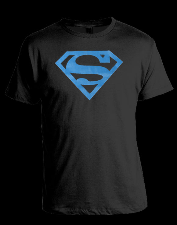 Superman T Shirt Blue Logo