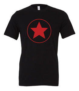 Scythe Rusviet Union Black T Shirt With Red Logo