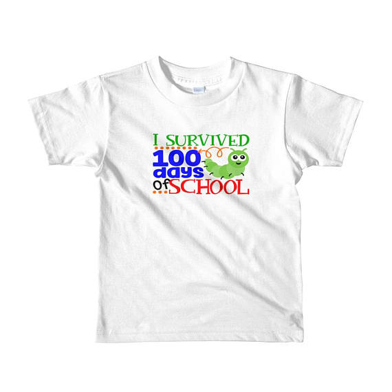 100 Days Of School Shirt Kids Ages 2 6 I Survived Cute Bug Shirt