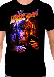 Shirt Final Sale Universal Monsters The Wolfman T shirt Black