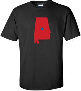 Alabama Blue Dot Red State Funny Political T shirt