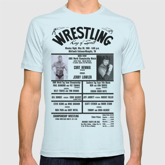 13 Memphis Wrestling Window Card T shirt