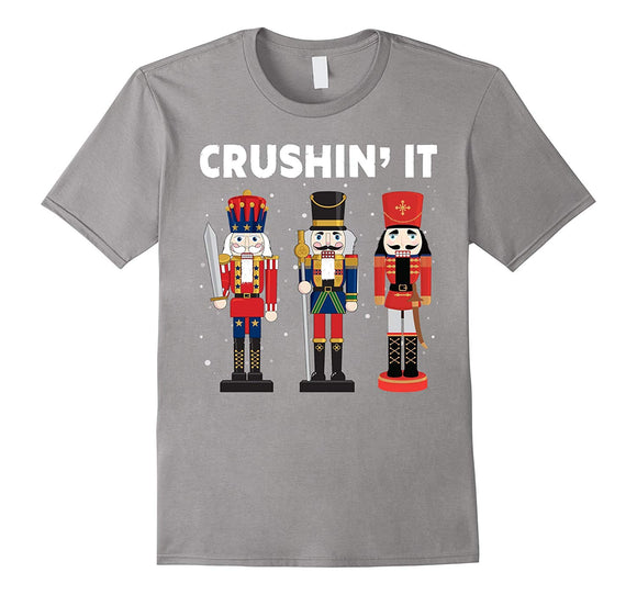 Crushing It Nutcrackers Funny Christmas T shirt