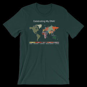 1 Personalized DNA Map T shirt UNiSEX