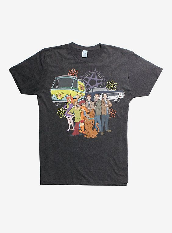 Shirt Scoobynatural Group T shirt Grey Supernatural